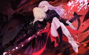 anime, Saber, Black