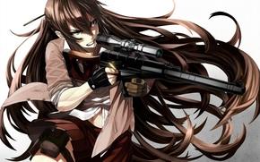 anime, girl, sniper