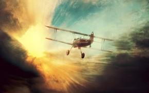 samolot, lot, sen