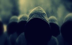 buio, hoodies, pioggia