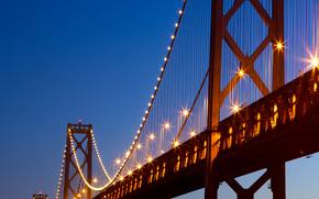 Goldene, Tor, Brücke, Meer, blau, Übernachtung