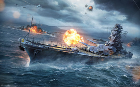 world of warships, world ships, sea ​​fight, ship, sea