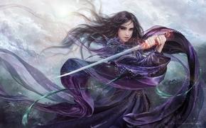 Mädchen, Klinge, Purple Rose