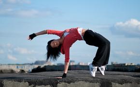 ragazza, bambino, piccolo, sportivo, stile, activewear, abbigliamento sportivo, allenamento, formazione, ghette, collant, abiti, Fitness, CrossFit, pilates, yoga, salute, wellness, esercizio, streching, indossare, bellezza, costume, arte, Surf