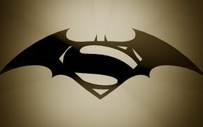 Batman v Superman, Dawn of Justice, logo, fantasia, Fantasy