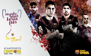 Fußball, FC Barcelona, 2015, Copa del Rey, Champions, Team