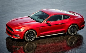red, 2016, Ford Mustang, compartment, gt, Coupe, black package