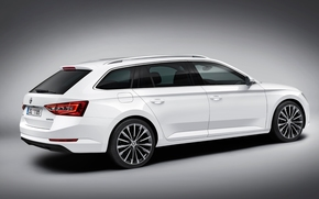 студия, 2016, Skoda Superb, белый, Combi, vehicle