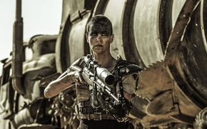 Mad Max Fury Road, films, 2015, stills, Imperator Furiosa, Charlize Theron