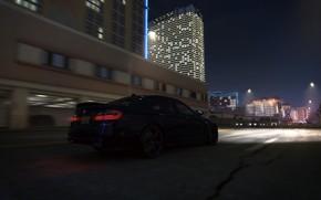 noche, BMW, BMW, Coche, ciudad