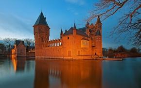 Castello Heeswijk, Paesi Bassi, Castello Heysvik, Paesi Bassi, castello, fosso, acqua