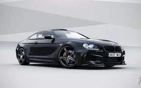 Coupe, BMW, m6, nero, BMW