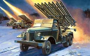 Art, Katusha, Fires, BM-13, war