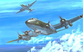 арт, Самолет, Германский, Focke-Wulf Fw 200C-3 Condor