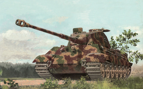 Art, tank, Germany, KingTiger, Pz.Kpfw. VI Ausf. B