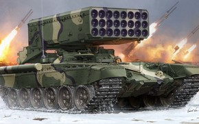 Art, Russia, Weaponry, Russian TOS-24 January-Barrel Multiple Rocket Launcher