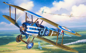 Art, avion, ciel, Sopwith Camel