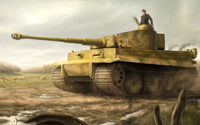 Art, tank, German, Tiger, Pz.Kpfw. VI