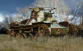 Art, tank, Japanese, Tip 4 ke-nu, light tank