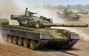 Sztuka, tank, Rosja, Rosyjski MBT T-80B
