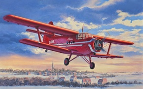 Art, avion, Kukuruznik, An-2, vol