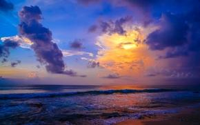 Dreamland Beach, Pecatu, Bali, Indonesia, Indian Ocean, Пекату, Бали, Индонезия, Индийский океан, океан, волны, облака