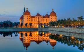 Moritzburg Castle, Moritzburg, Saxony, Germany, Castle Moritzburg, Moritzburg, Saxony, Germany, castle, reflection, water