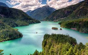 Diablo Lake, North Cascades, Washington, Devil's Lake, North Cascade Mountains, Washington, lake, Mountains, forest