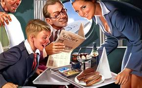 food, tea, stakn, ice cream, Pinocchio, chocolate, plane, girl, smile, aeroflot, ussr, Newspaper, Sport