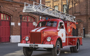 GAZ-51, Soviet, fire, machine, gas, equipment, ussr, truck