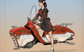 ussr, girl, Pioneer, transportation, funny
