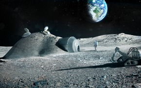 space, land, moon, Cosmonauts, home, station, base, dugout