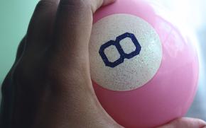 Magic 8 Ball, billiard ball, PINK, ball