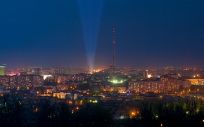 Novorossia, Lugansk, Donbass, city, night, panorama