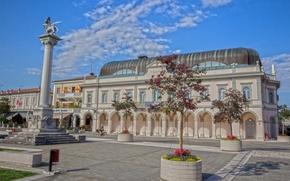 Gradisca d'Isonzo, Friuli-Venezia Giulia, Italy, Gradisca d'Isonzo, Friuli-Venezia Giulia, Italy, area, column, building, theater