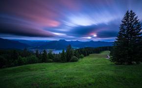 Lago Tegernsee, Tegernsee, Baviera, Germania, Alpi bavaresi, Lago Tegernsee, Tegernsee, Bayern, Germania, Alpi bavaresi, Alpi, Montagne, lago, tramonto