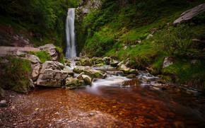 Glenevin Waterfall, Ireland, Ирландия, водопад, камни