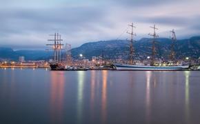 Toulon, Francia, Mar Mediterraneo, Toulon, Francia, Mediterraneo, porto, navi, barche a vela, mare, Montagne