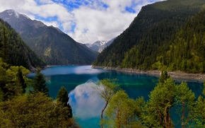Long Lake, Jiuzhaigou, Sichuan, China, Minshan, Long Lake, Jiuzhaigou, Sichuan, China, reserve, lake, Mountains