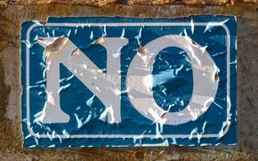 NO, no, letters, inscription, shabby