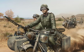 soldats, motocyclistes, World of Tanks Generals
