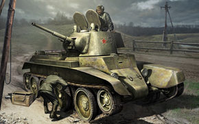 Art, Tankers, BT-7, Reconditioning, soldiers, World of Tanks Generals