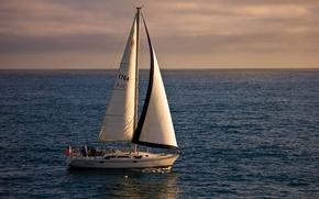 California, Pacific Ocean, California, Pacific, ocean, yacht, sail, HORIZON