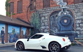 стена, рисунок, Alfa Romeo, паровоз, Alfa Romeo 4C