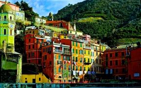 Vernazza, Cinque Terre, Liguria, Italia, Vernazza, Cinque Terre, Liguria, Italia, costruzione