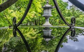 Eikando Temple, Kyoto, Japan, Киото, Япония, храм, парк, деревья, вода, отражение