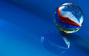 glass ball, ball, background, reflection, Macro