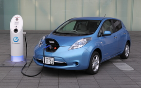 Electric, Nissan, Nissan, machine, blue, charging, electricity, Japan, technology, tile