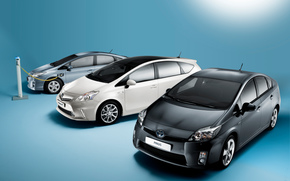 Electric, Toyota, Prius, Toyota Prius, machine, black, white, charging, electricity, Japan, Technology