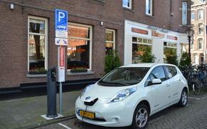 Eléctrico, Nissan, blanco, carga, Tecnología, Amsterdam